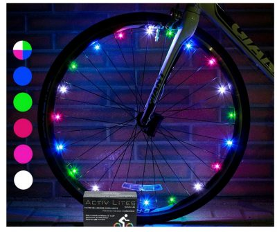 Keep your boy safe with these led bike wheels. different colors and easy to see in low light conditions