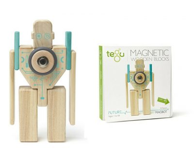 Tegu Magnetic wooden robot. Obviously not a real one but a fun and very durable toy for toddlers to play with. Good quality wooden toy.