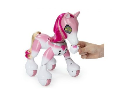 Pink Show Pony robot. Who doesn't want an interactive pony? This one many kids love. Also available in other colors.