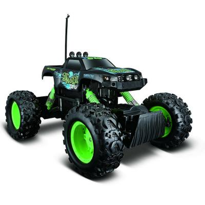 A remote controlled rock crawler that's great for beginners. It's strong and can really climb over rocks. Not bad for a toy.
