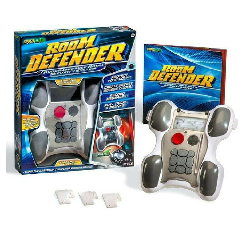 This isn't just a toy. It's a useful gift that your child would like to have. Now he can protect his own private space with this door alarm and defender. Fun for kids to have.