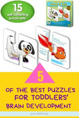 Best Puzzles for toddlers for healthy brain development. Lots of different options from 2-piece puzzles to 32-piece puzzles for toddlers who are a little bit more advanced. Teaches 2 year olds shapes, creative thinking, alphabets and more.