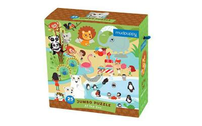 Mudpuppy floor puzzle. Big jumbo puzzle for 3 year olds.