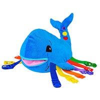 This is not just a plush toy, it is also an all around activity toy and boredom buster. You will be surprised how much toddlers love this.