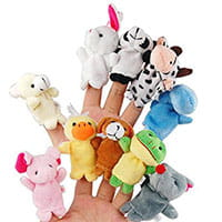 Finger Puppets are great boredom busters when traveling.