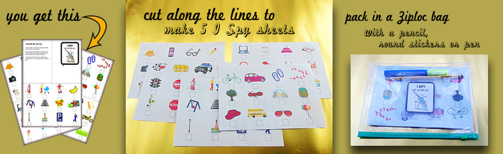 I spy with my little eye activity sheet