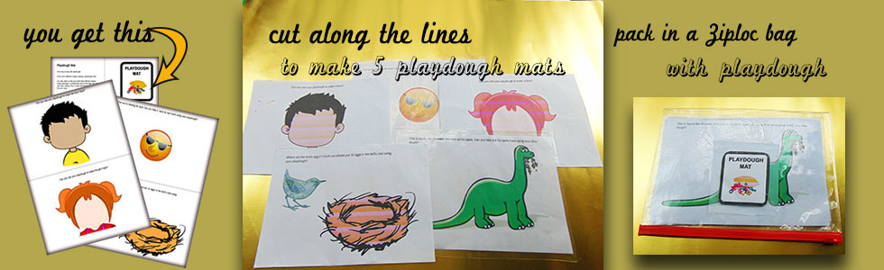 A different way to play with playdough. Laminate it and take playdough play to a whole new level.