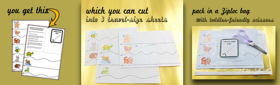 Activity: Trace and Cut - An activity for older toddlers.
