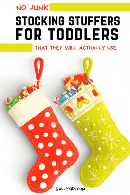 The best stocking stuffers for toddlers that they will actually use. No junk - some of the coolest toys, clothes, books for both boys and girls.