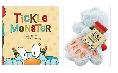 Tickle monster book and mitt.