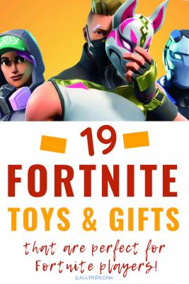 19 cool Fortnite toys for kids and the kids at heart. Whether you want to buy a shirt or a Funko pop figure, you'll find some great ideas here. Especially love the Funko Pop keychain with the cuddle bear. So cute!