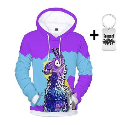Purple and blue Fortnite hoodie. What better way to shout to the world you love Fortnite than with this hoodie? Both boys and girls love this. Keep your little ones warm with a hoodie they'd love to wear every day.