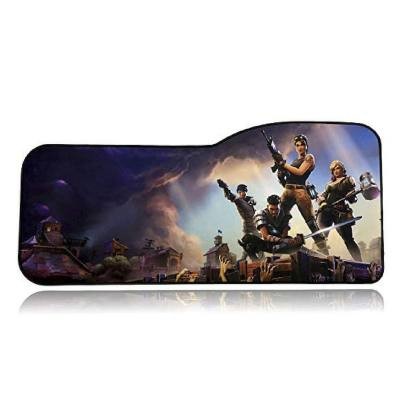 A big mousepad with a Fortnite picture on it. Gamers love this. It's very big so it has enough place for both the keyboard and the mouse. Comes in different shapes and sizes.