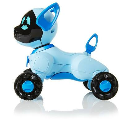 """Choose from pink, blue or black. These puppy robot toys on wheels can do a lot of things and is a lot of fun for toddlers and preschoolers to play with - It's just like having a little pet- except you don't have to feed it! Your child can even take it for a """"walk"""""""