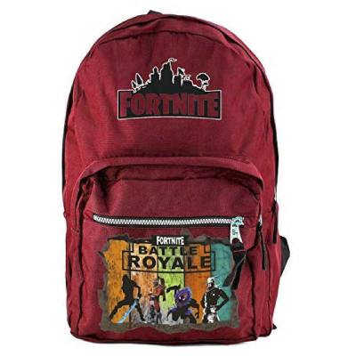 Red Fortnite backpack. An elegant backpack that adults will also appreciate. This looks more elegant than the other fortnite theme backpacks out there.
