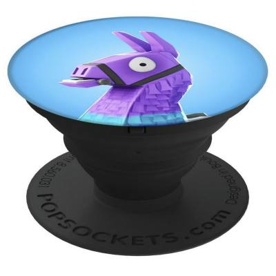 A pop socket with a Fortnite theme. These are great as phone or tablet stands. You can tilt or prop easily. Holding your phone for selfies and making videos are also a lot easier with this.