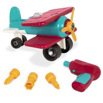"A toy that kids can take apart and play with at the same time. They learn how to put a ""puzzle"" together and then when done, play with it too! perfect for kids who love cars, trucks planes and all types of transportation."