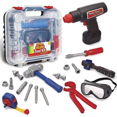 Do you have a boy who loves building? This drill set constrction set will come very handy. It even has an electronic drill set that will easily be a 2 year old boys favorite toy.