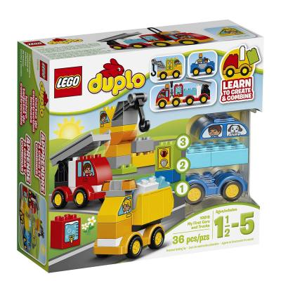 Chunky building blocks that are perfect for small hands. This is a good starter toy for the more intricate and smaller Lego blocks when they get older.
