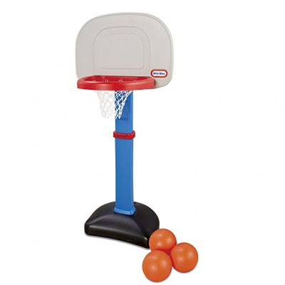 Classic basketball set for both indoor and outdoor play.