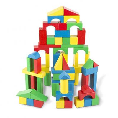 Colorful building blocks which are great for developing a toddler's imagination and learn basic engineering concepts.
