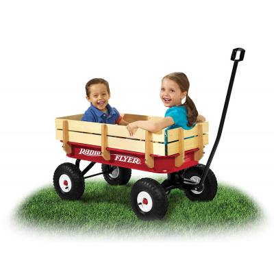 This wagon isn't just for the little ones in the household-- this is for you too. It's a great way to haul the kid around when going to the beach or around your garden without breaking your back.