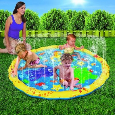Banzai Splash and play mat - This isn't just for toddlers. It's also a fun cooling toy for babies. It's easy to put up, too. You get one happy baby with this water toy for outdoor play.