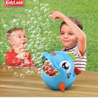 Kidzlane bubble machine. It's portable too. It's small enough to take outside or even take to the park if you fancy. Keeps kids entertained for a long time. Plus it's automatic and battery-powered so you don't have to keep blowing bubbles!