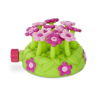 Melissa & Doug dancing flower sprinkler. Get toddlers outside with a sprinkler just like this one. Keeps them busy and happy. Just attach to a hose and your toddler is surely going to enjoy playing with it.