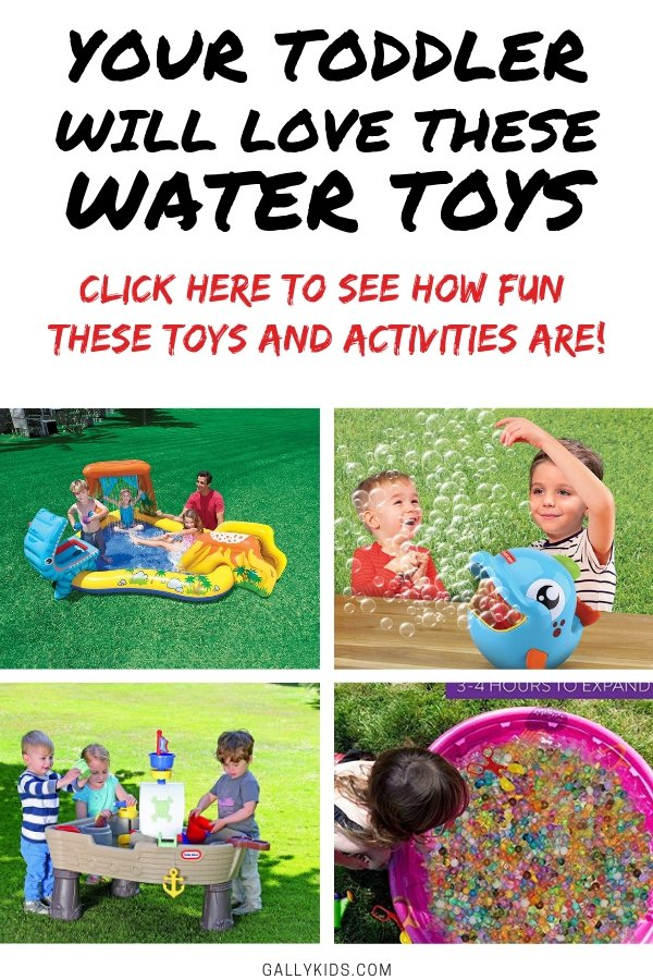 Simple water toys for todd- is it summertime? or do you just need to take your toddler outside for some fresh air and outdoor fun? Then you'll love these 11 toys that are toddler-approved.