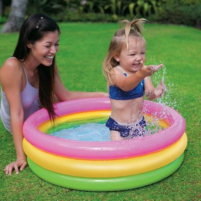 Paddling pools - if you have a toddler, you gotta get one. It's a very simple toy that keeps kids happy and entertained for a long time. It's also great for keeping them cool during hot summer days- Remember to always practice safety when with young toddlers. Never leave them alone in a paddling pool even when it's very shallow.