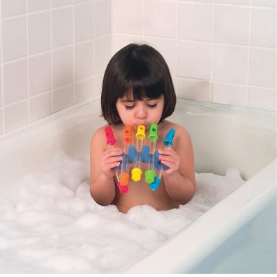Alex Toys water flute - fun for bath time but also for playing outside in the garden. #musicaltoys #toddlertoys