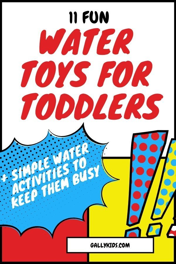 Fun water toys for toddlers that keep them busy and happy outside. + simple water activities to keep them busy.outdoors and keep him entertained with these toys. Get your toddler To[comics style image]