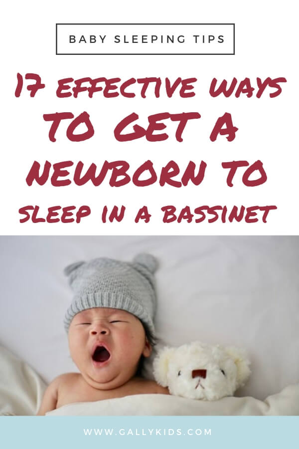How to get your newborn to sleep in a bassinet. These are the easy ways to get baby to sleep soundly. The basic steps you need to make putting baby to bed stress-free.