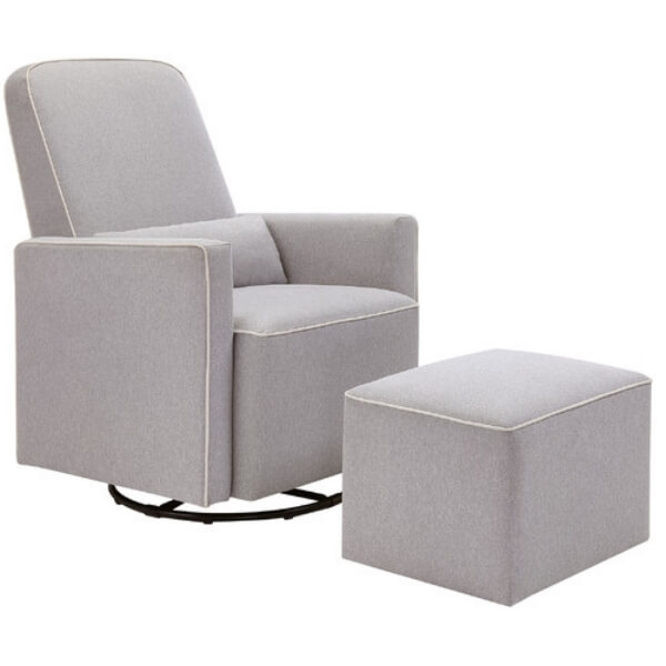 Da Vinci Olive Swivel glider and Ottoman. Great for if you want an ottoman to rest your leg on while nursing.