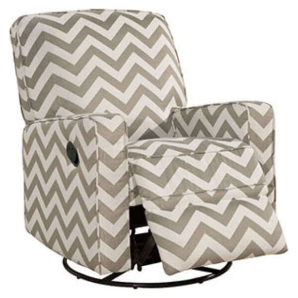 Viv Rae Satya Swivel Reclining glider. Make breastfeeding a lot more comfortable.