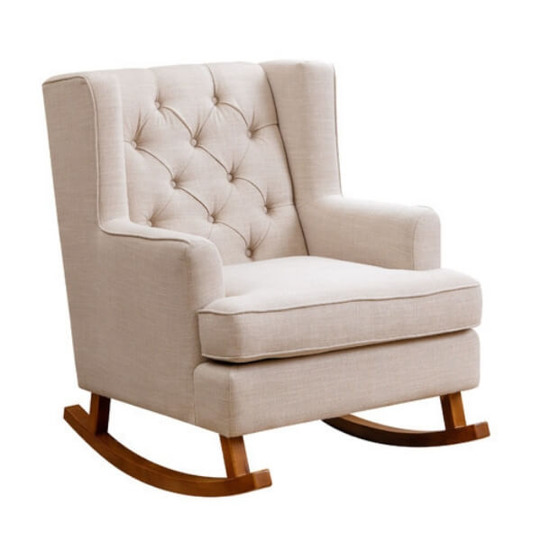 White Viv Rae Anton rocking chair. You'll love this for rocking baby to sleep.